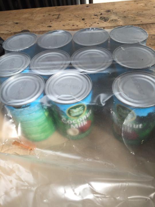 12 tins of of coconut milk