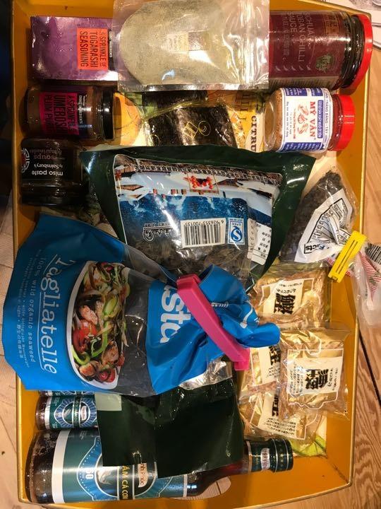 Lots of Asian ingredients