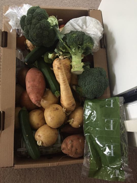 Box of fruits and veg