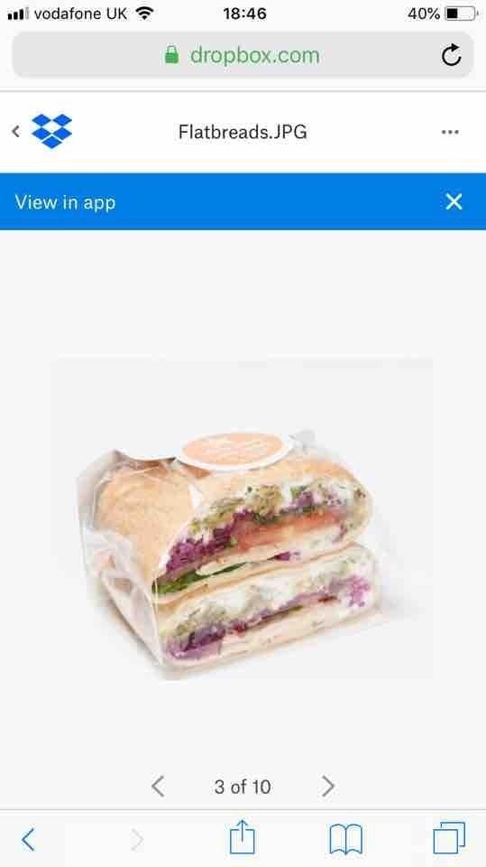 Flatbread sandwiches