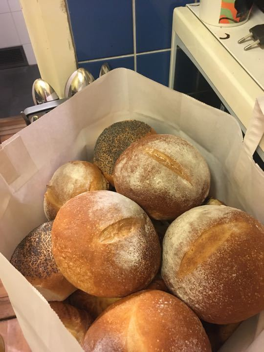 Bread rolls from Pesso. Picked up 13/12.