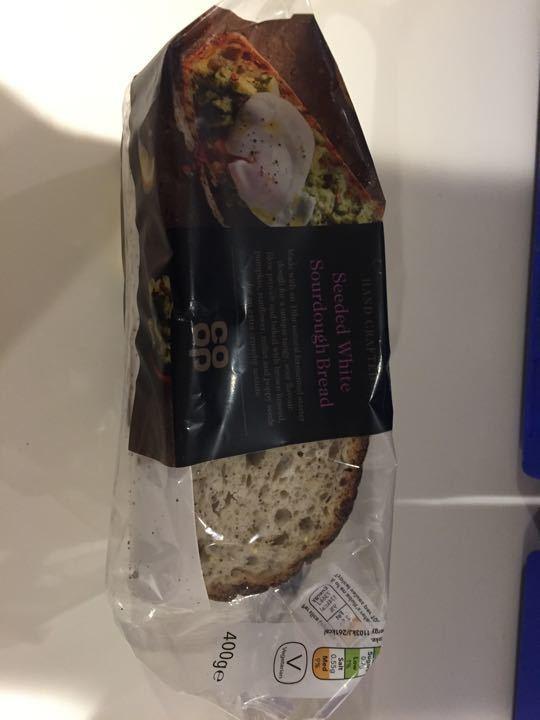 Seeded white sourdough bread