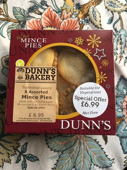 Mince pies unopened
