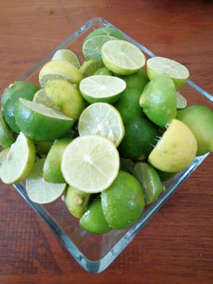 Limones partidos