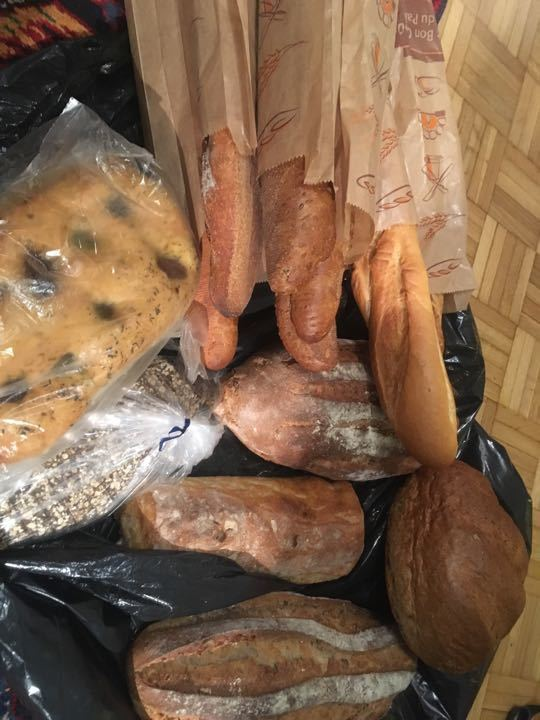 Small amount of fresh bread - collection tonight please.