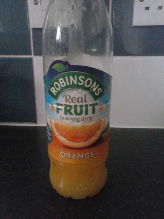 1/2 bottle of orange squash concentrate-opened. Avoiding sugar for a bit.