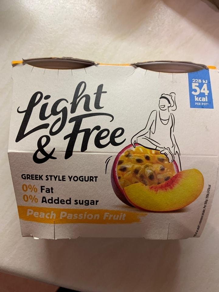 Peach passion fruit yoghurts