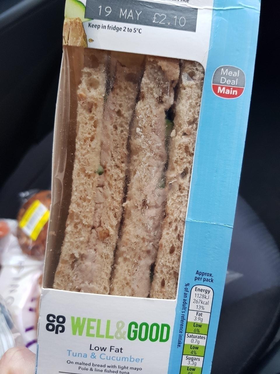 Tuna and mayo sandwich