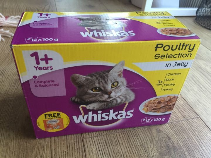 CAT FOOD Wiskas Poultry in Jelly