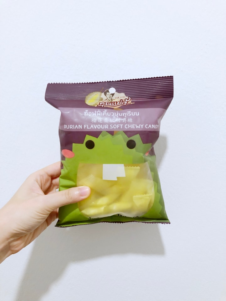 Durian soft chewy candy