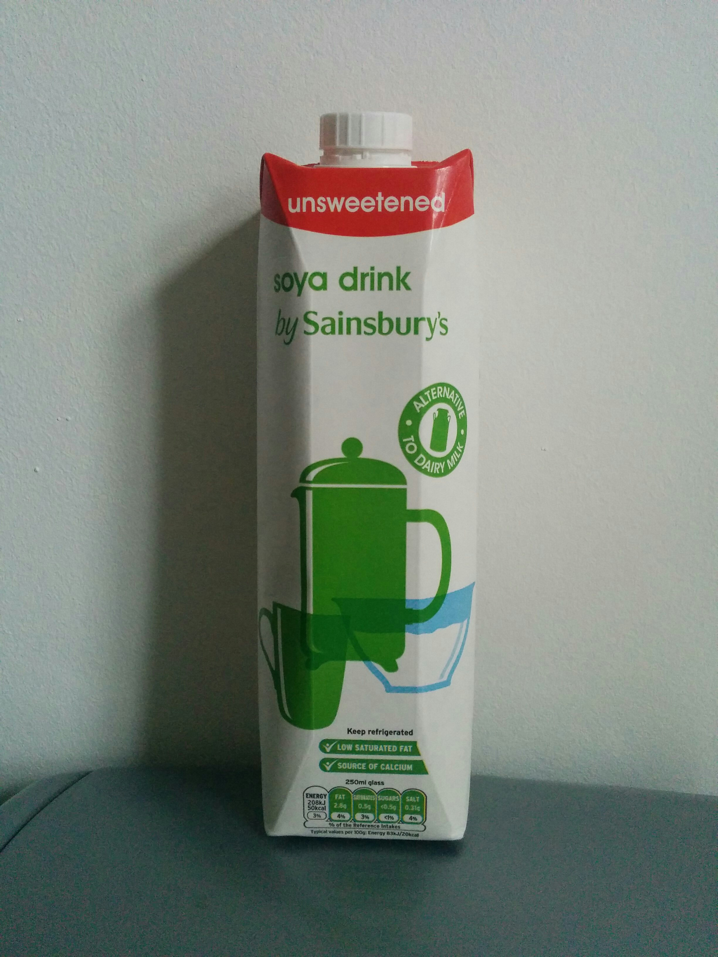 Unsweetened soya milk