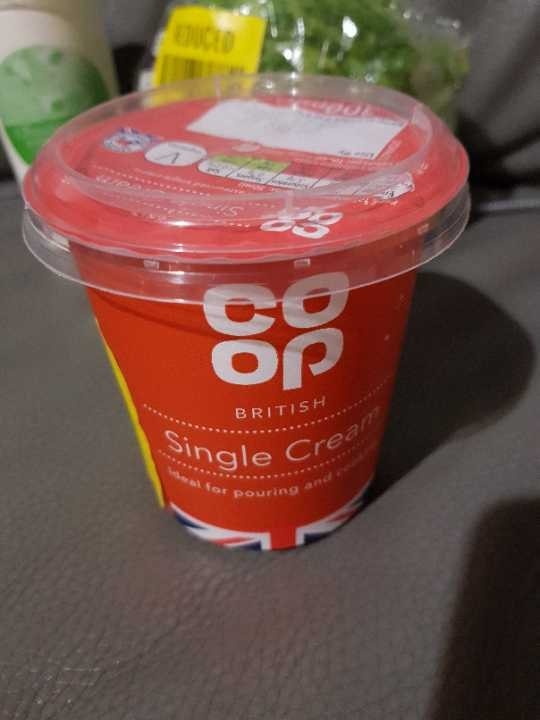 Single cream - must collect tonight before 11pm