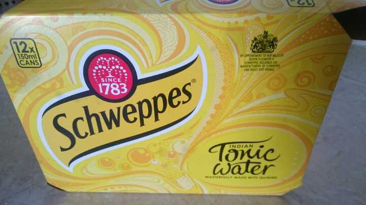 5 150ml cans schweppes tonic water