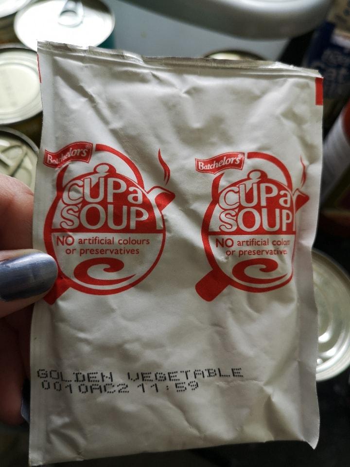 Golden vegetable cupa soup