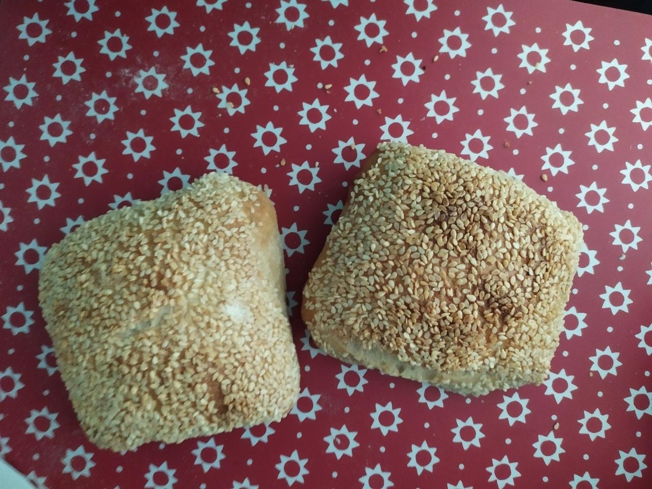 3 x fresh sesame bread rolls from Pesso Fridhemsplan
