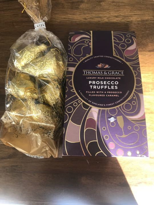Prosecco truffles and chocolate bells