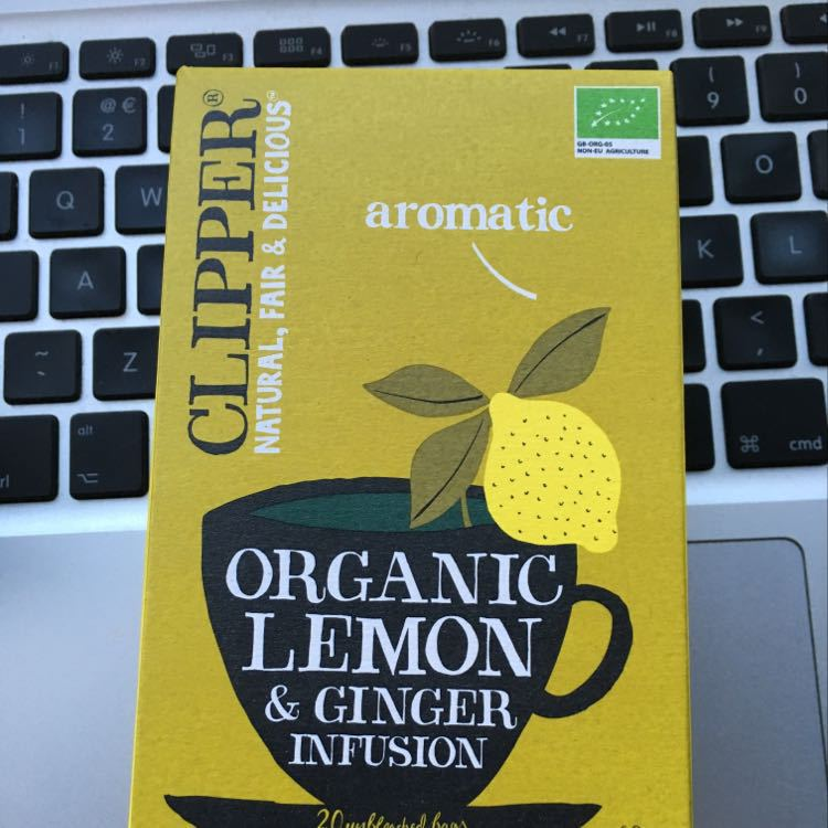 Clipper lemon and ginger tea