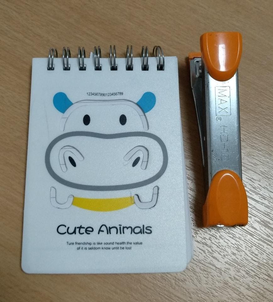 Cute animals notepad