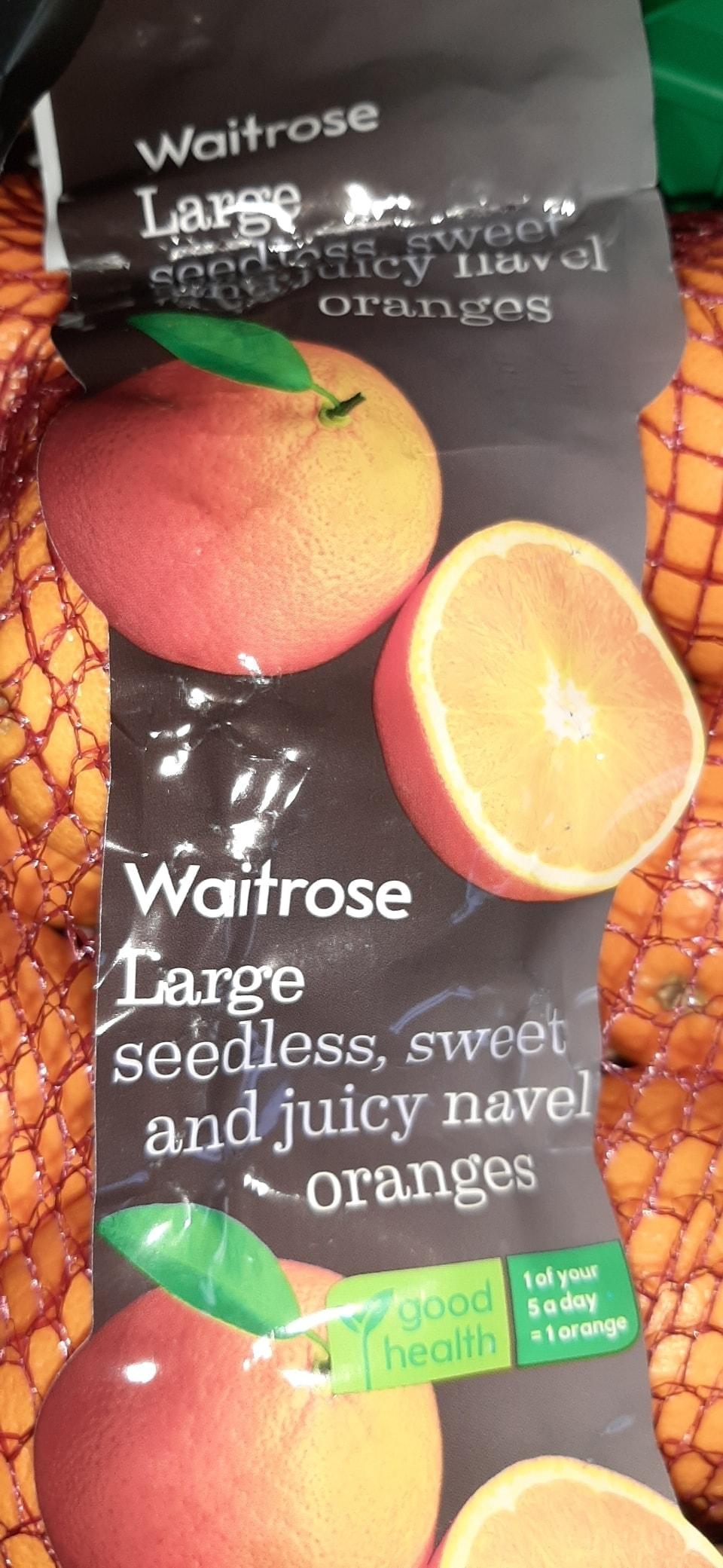 Large bag navel oranges