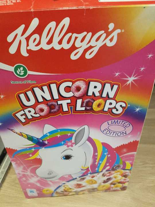 Unicorn fruit loops (cheerios cereal)