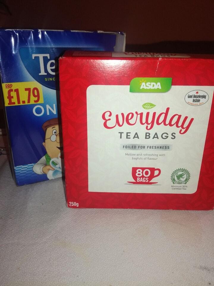 Box of 80 tea bags (ASDA).