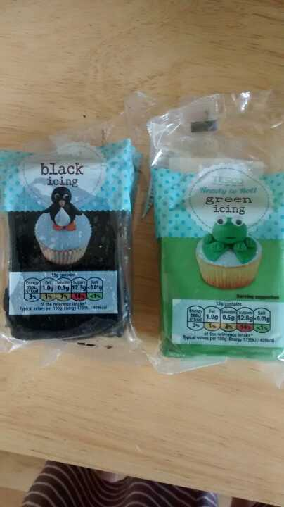 Green and black icing