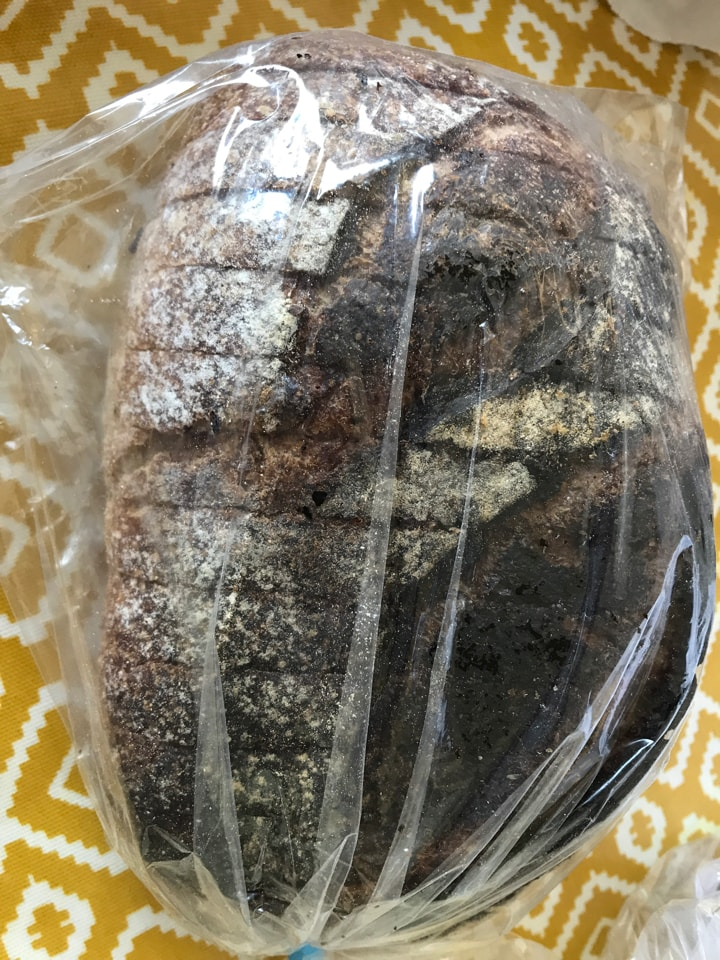 Bag 18: small loaf from artisan bakery