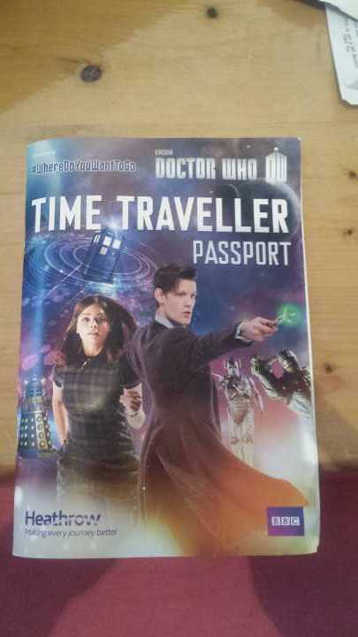 DOCTOR WHO Time Traveller Passport