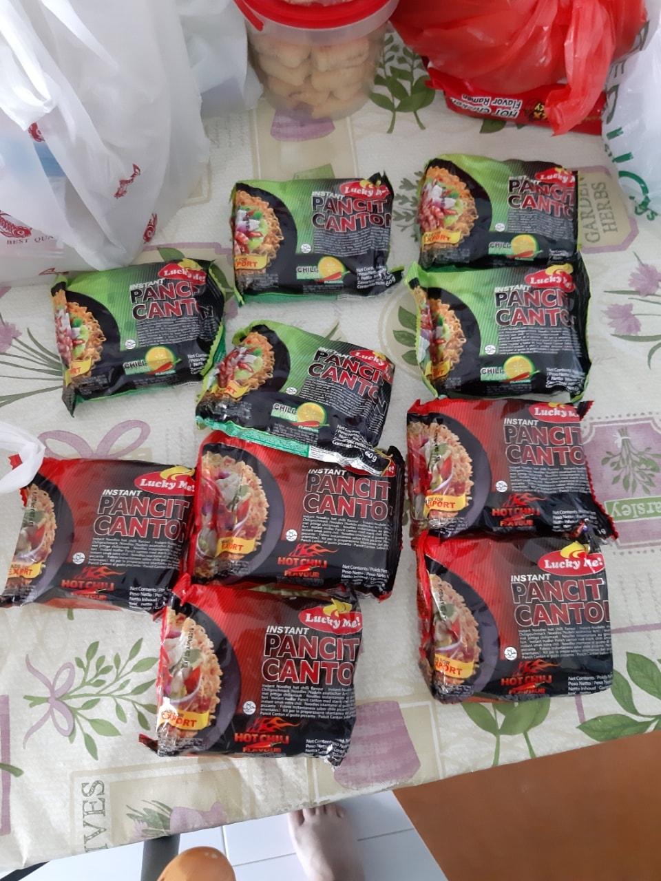 Expired instant noodles pancit canton
