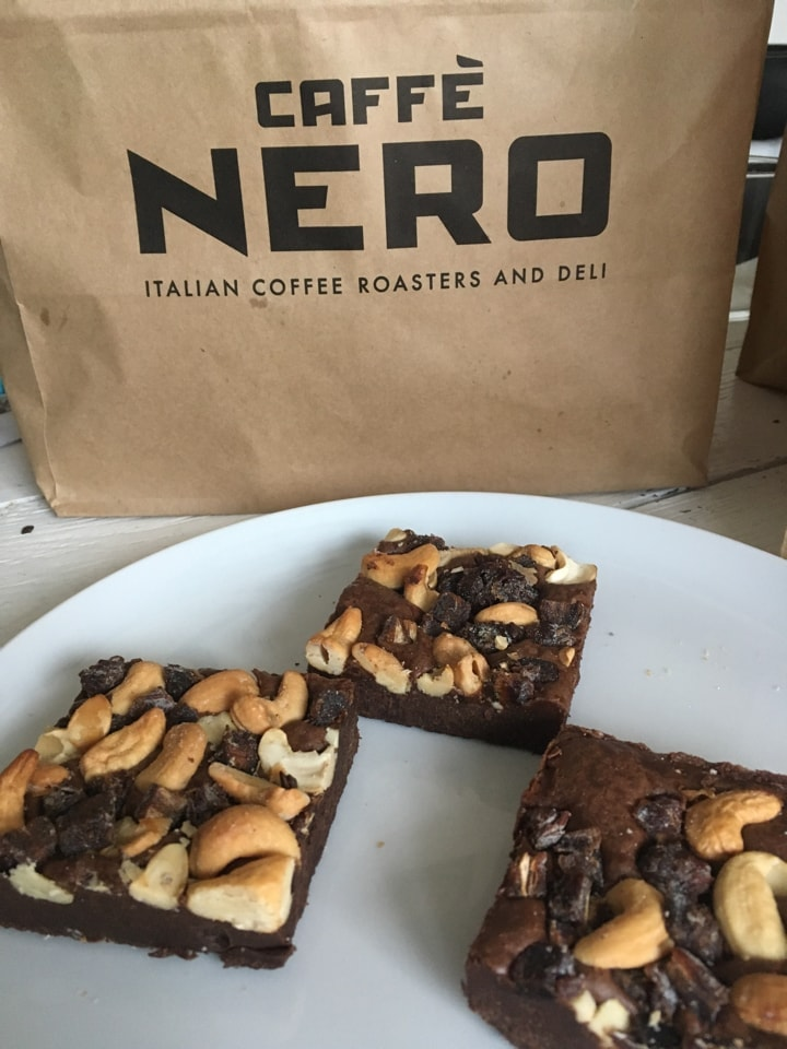 Fruit and nut brownie