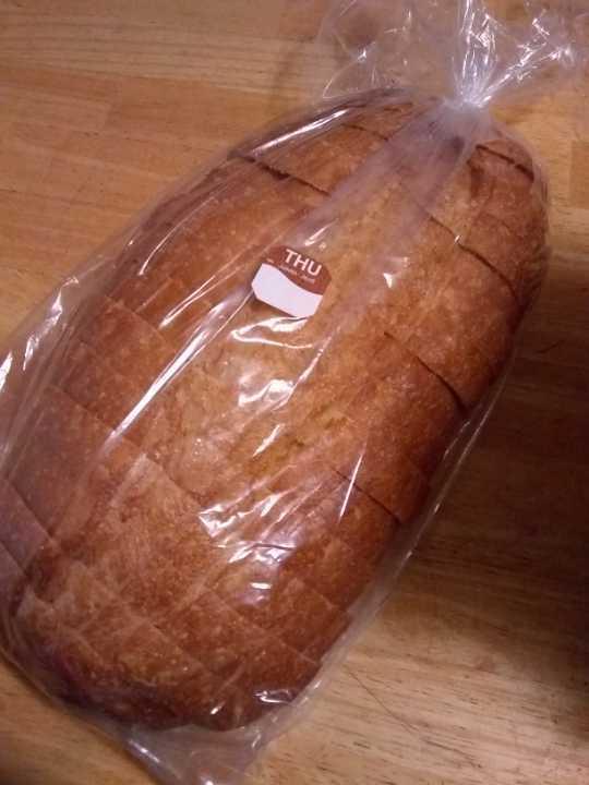 Loaf of sliced bread.