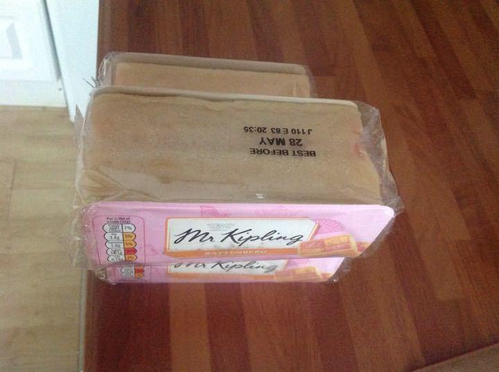 2 packs of Mr Kippling battenberg