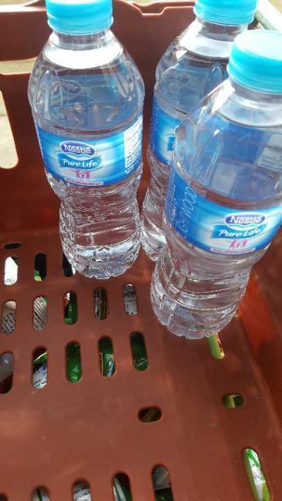 500ml water x 3 bottles
