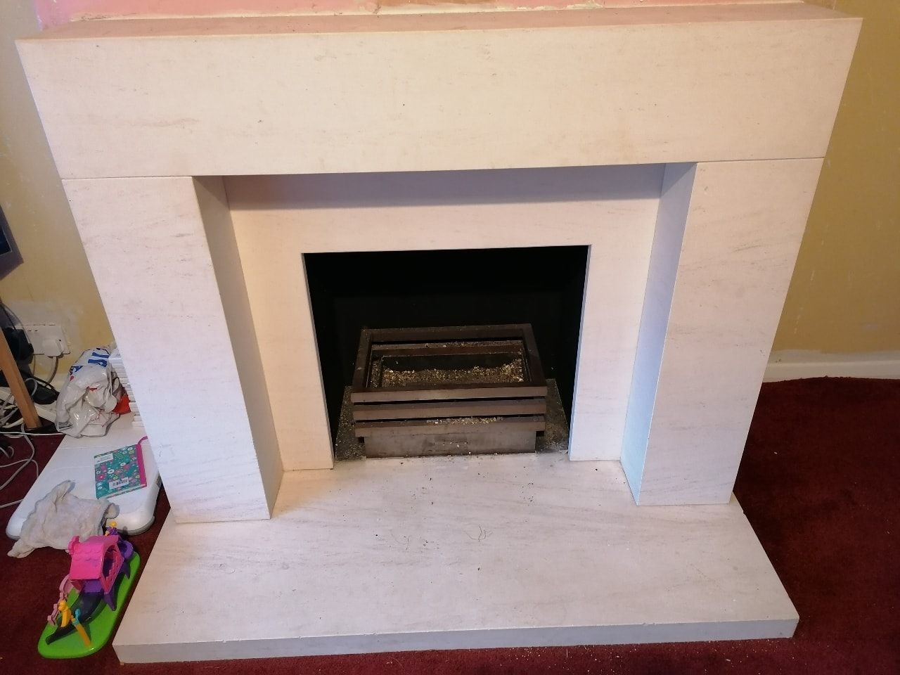 Stone fireplace free to collector
