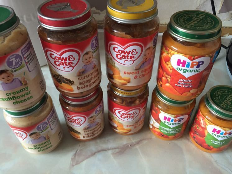 9 jars of 7+ baby food, 3 hipp organic 6 cow and gate