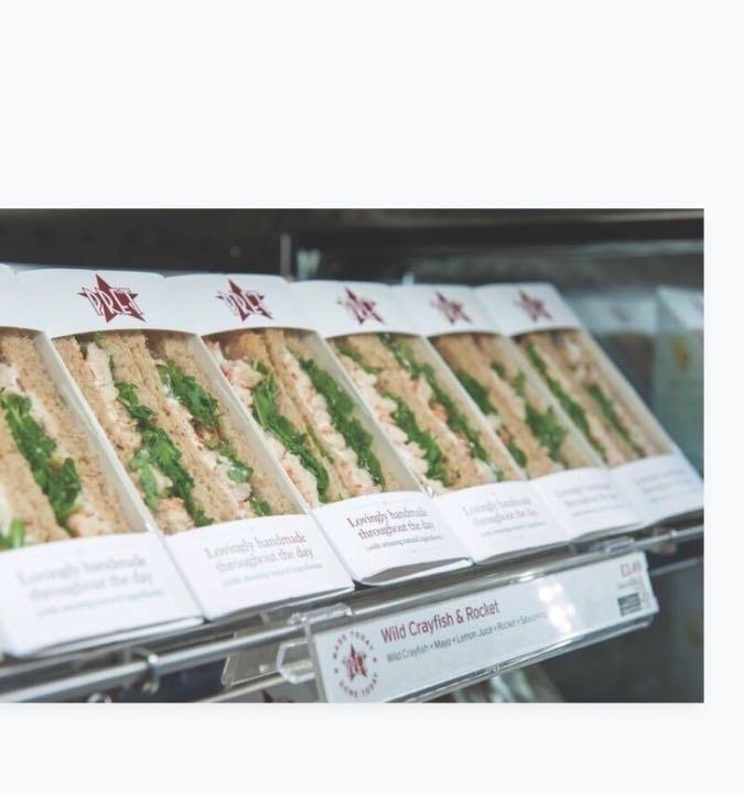 Pret (veggie/fish) sandwiches