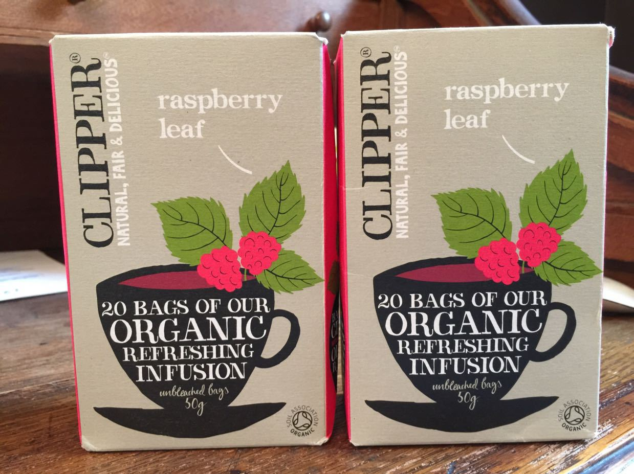 Two packets Raspberry Leaf Tea Bags