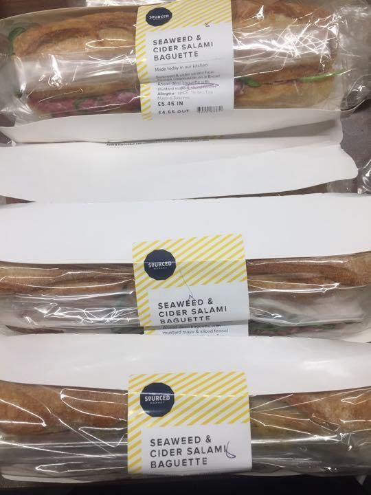 Seaweed & cider salami baguettes