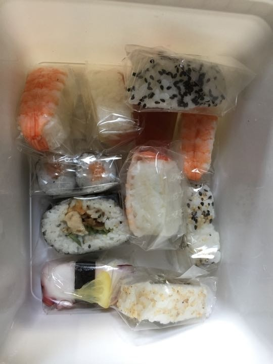 Sushi mix fish and veg
