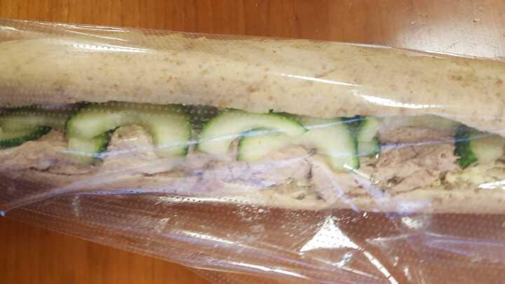 Tuna cucumber baguette