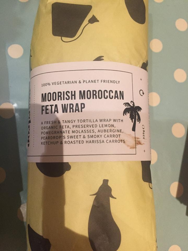 2 moorish Moroccan feta wraps from Planet Organic