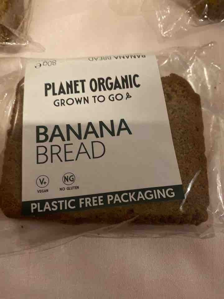 Planet organic VEGAN banana bread slice