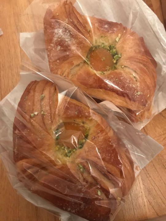 4 x gourmet large apricot & pistachio pastries