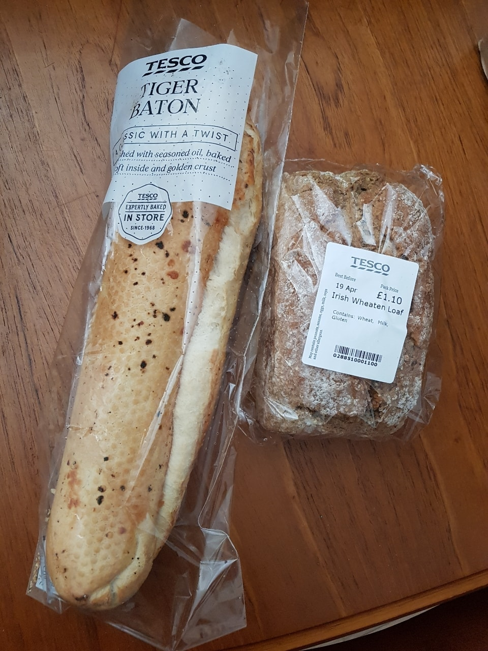 Tiger baton and Irish loaf