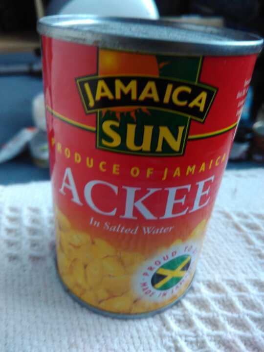 Ackee in salted water