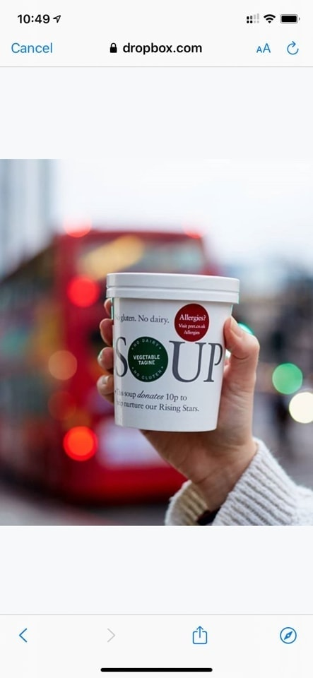 Pret chicken and butternut squash soup