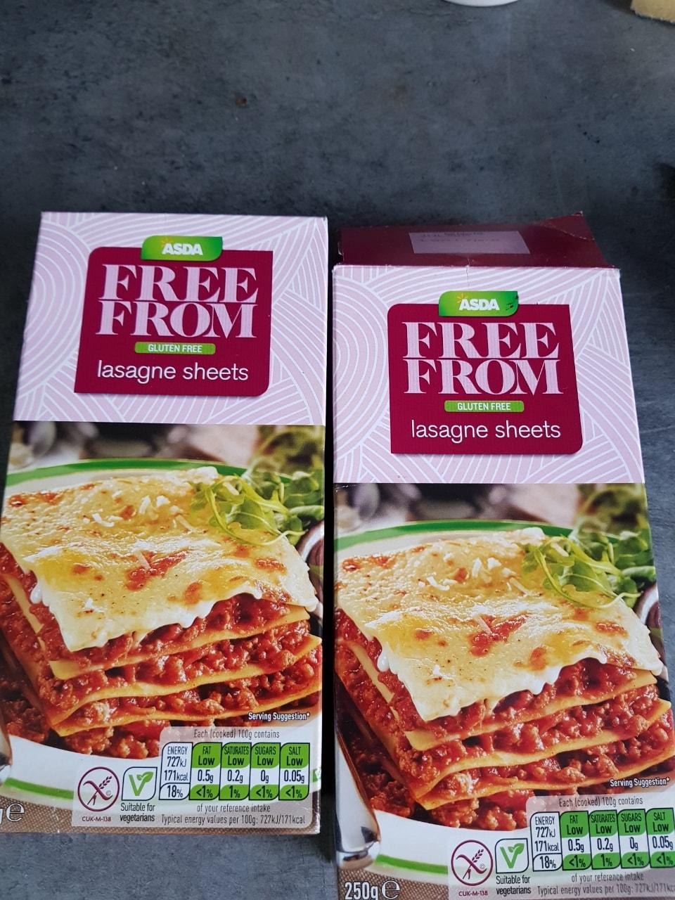 Gluten-free lasagne sheets