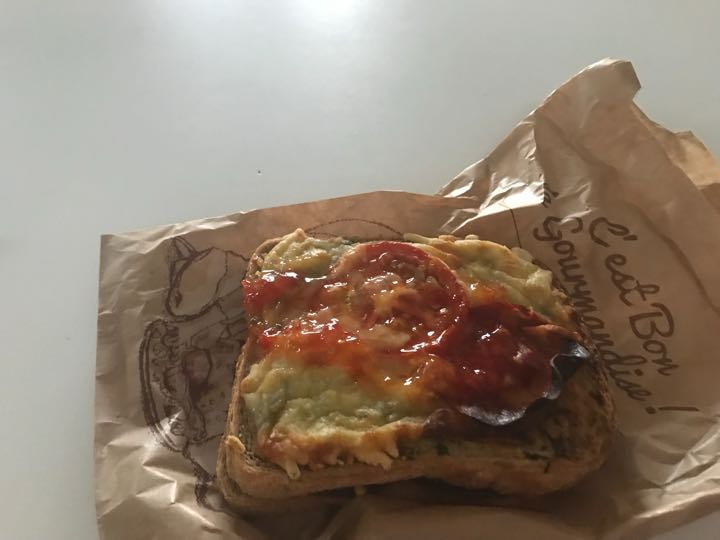 Pepperoni pizza toasie