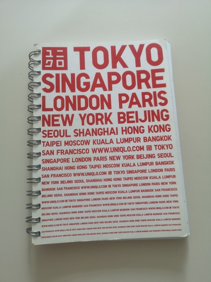Uniqlo Single lined ring note book.