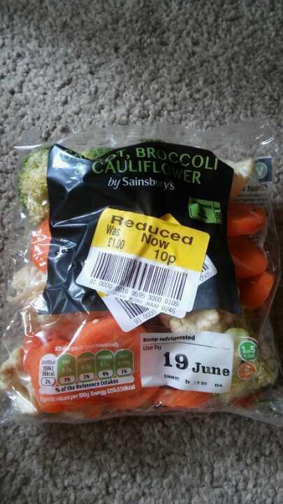 Carott broccoli and cauliflower mix